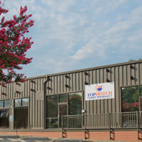 Top Notch Pharmacy building exterior in Charlottesville, Virginia